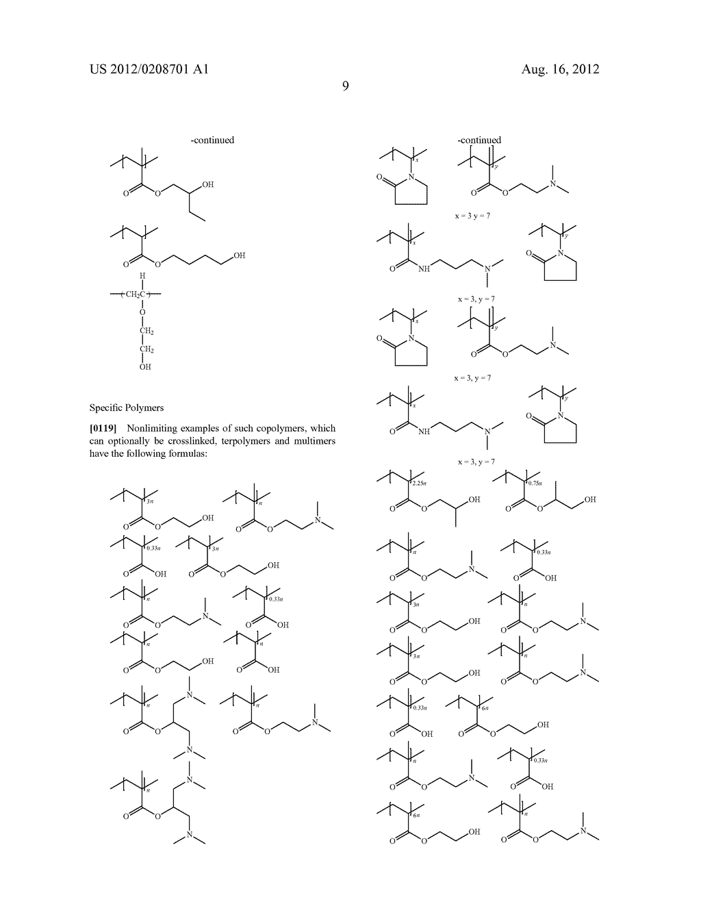 POLYMERS, COMPOSITIONS AND METHODS OF USE FOR FOAMS, LAUNDRY DETERGENTS,     SHOWER RINSES AND COAGULANTS - diagram, schematic, and image 10