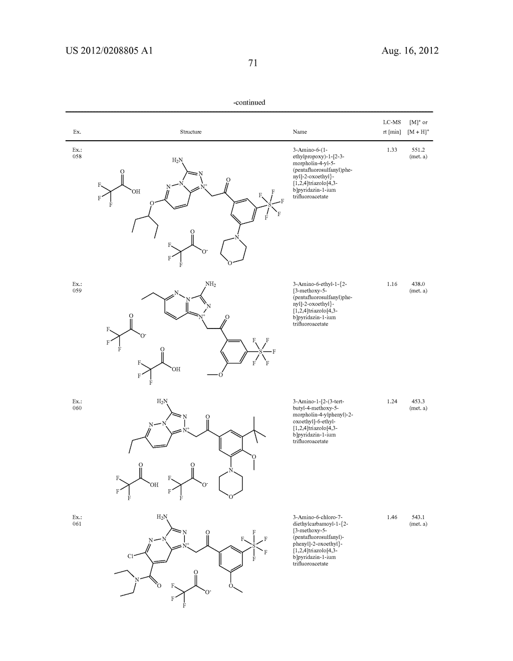 TRIAZOLIUM SALTS AS PAR1 INHIBITORS, PRODUCTION THEREOF, AND USE AS     MEDICAMENTS - diagram, schematic, and image 72