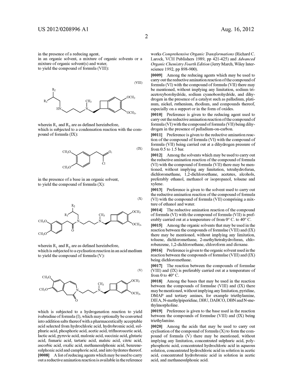 PROCESS FOR THE SYNTHESIS OF IVABRADINE AND ADDITION SALTS THEREOF WITH A     PHARMACEUTICALLY ACCEPTABLE ACID - diagram, schematic, and image 03