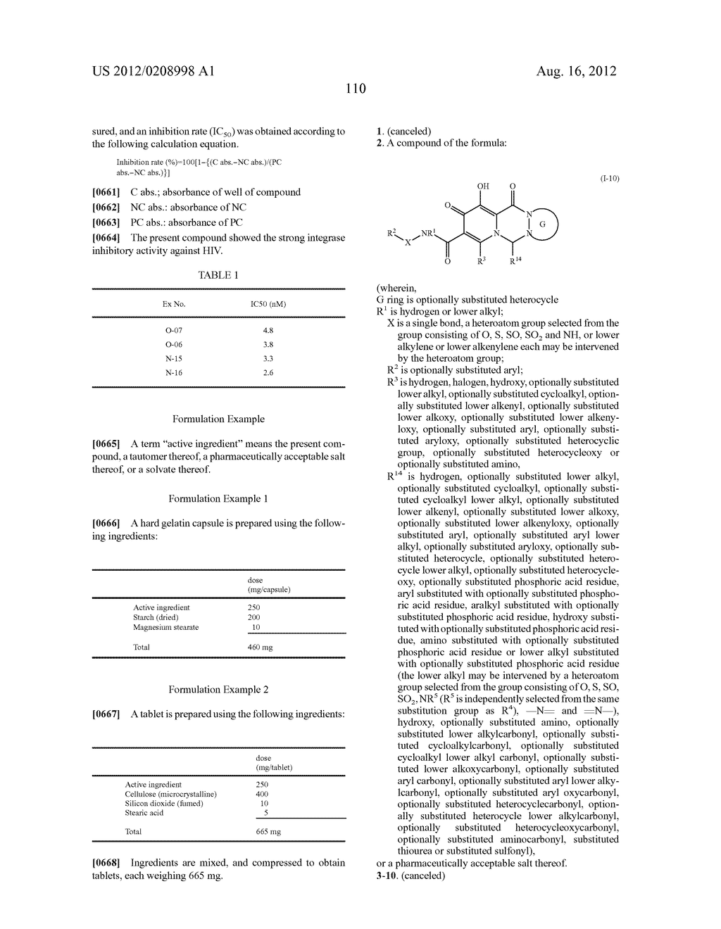 POLYCYCLIC CARBAMOYLPYRIDONE DERIVATIVE HAVING HIV INTEGRASE INHIBITORY     ACTIVITY - diagram, schematic, and image 111