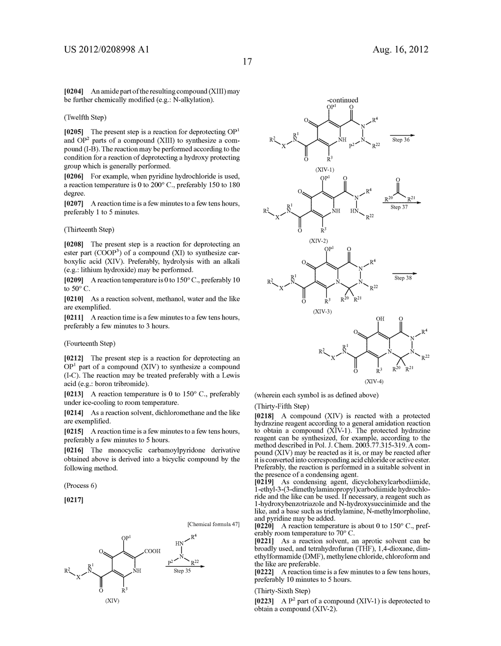 POLYCYCLIC CARBAMOYLPYRIDONE DERIVATIVE HAVING HIV INTEGRASE INHIBITORY     ACTIVITY - diagram, schematic, and image 18