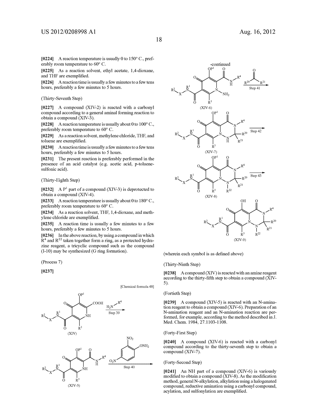 POLYCYCLIC CARBAMOYLPYRIDONE DERIVATIVE HAVING HIV INTEGRASE INHIBITORY     ACTIVITY - diagram, schematic, and image 19