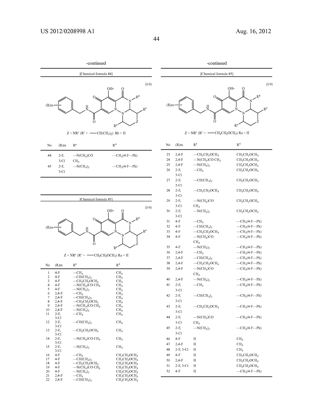 POLYCYCLIC CARBAMOYLPYRIDONE DERIVATIVE HAVING HIV INTEGRASE INHIBITORY     ACTIVITY - diagram, schematic, and image 45