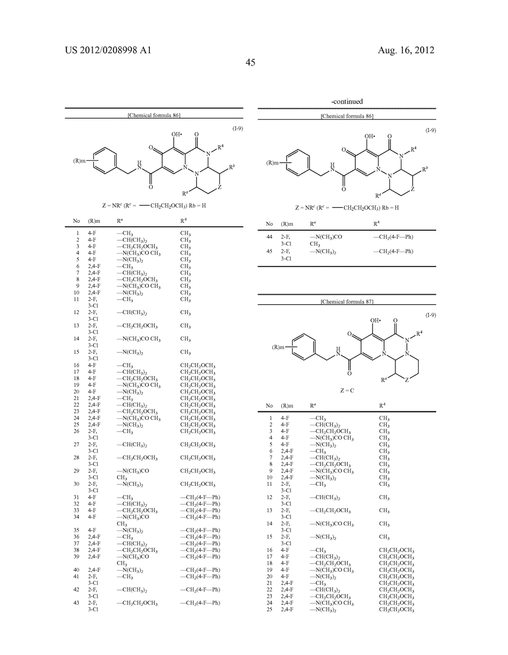 POLYCYCLIC CARBAMOYLPYRIDONE DERIVATIVE HAVING HIV INTEGRASE INHIBITORY     ACTIVITY - diagram, schematic, and image 46