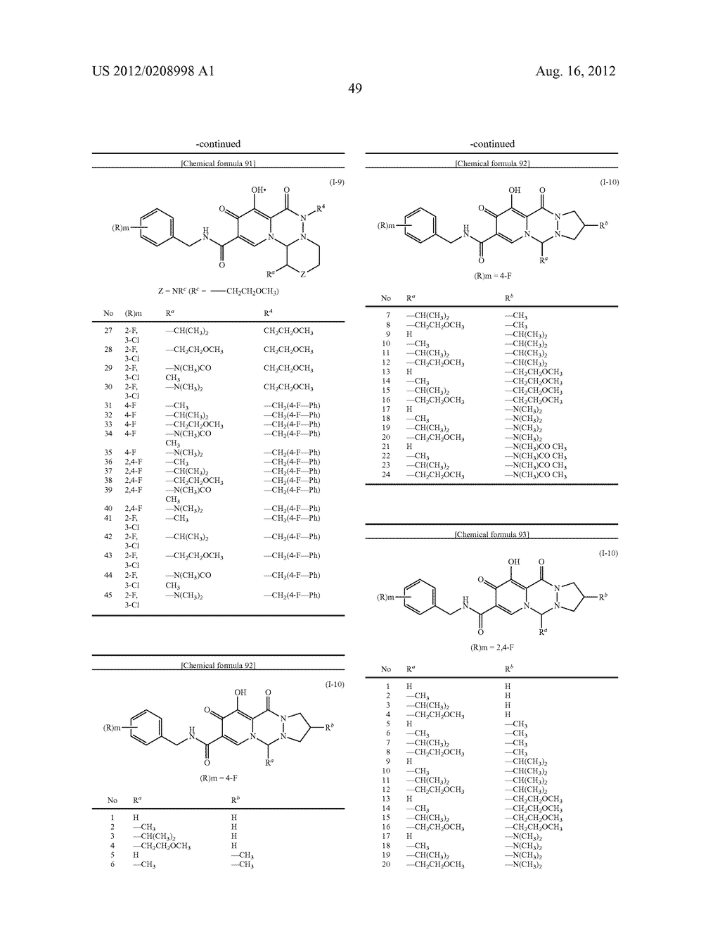 POLYCYCLIC CARBAMOYLPYRIDONE DERIVATIVE HAVING HIV INTEGRASE INHIBITORY     ACTIVITY - diagram, schematic, and image 50