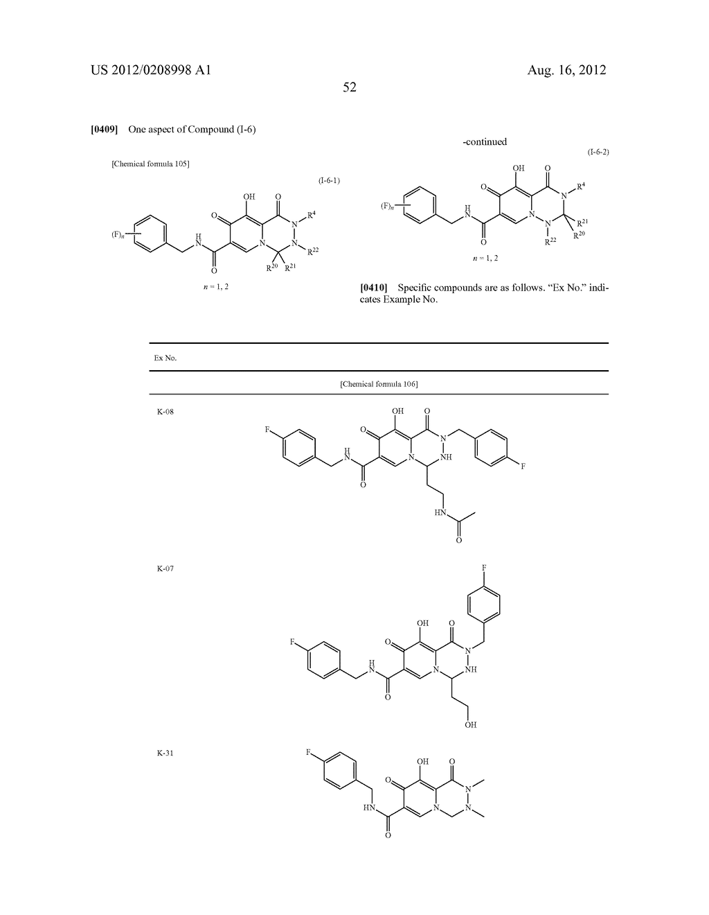 POLYCYCLIC CARBAMOYLPYRIDONE DERIVATIVE HAVING HIV INTEGRASE INHIBITORY     ACTIVITY - diagram, schematic, and image 53