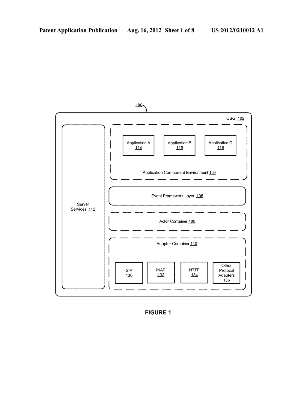 APPLICATION SERVER PLATFORM FOR TELECOM-BASED APPLICATIONS HAVING A TCAP     ADAPTER, SIP ADAPTER AND ACTOR PROTOCOL CONTEXT - diagram, schematic, and image 02