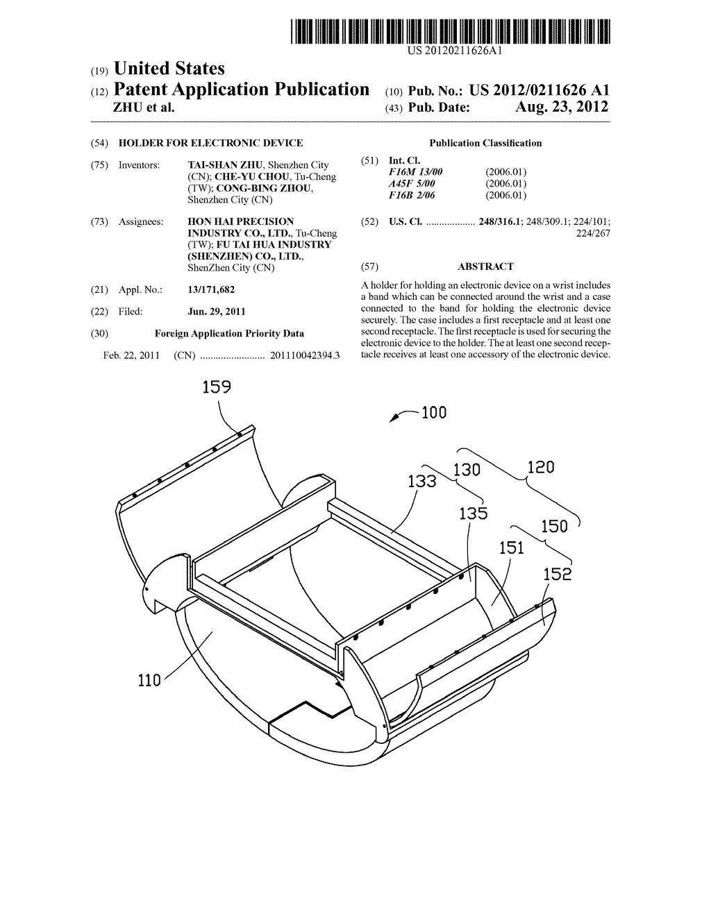 HOLDER FOR ELECTRONIC DEVICE - diagram, schematic, and image 01