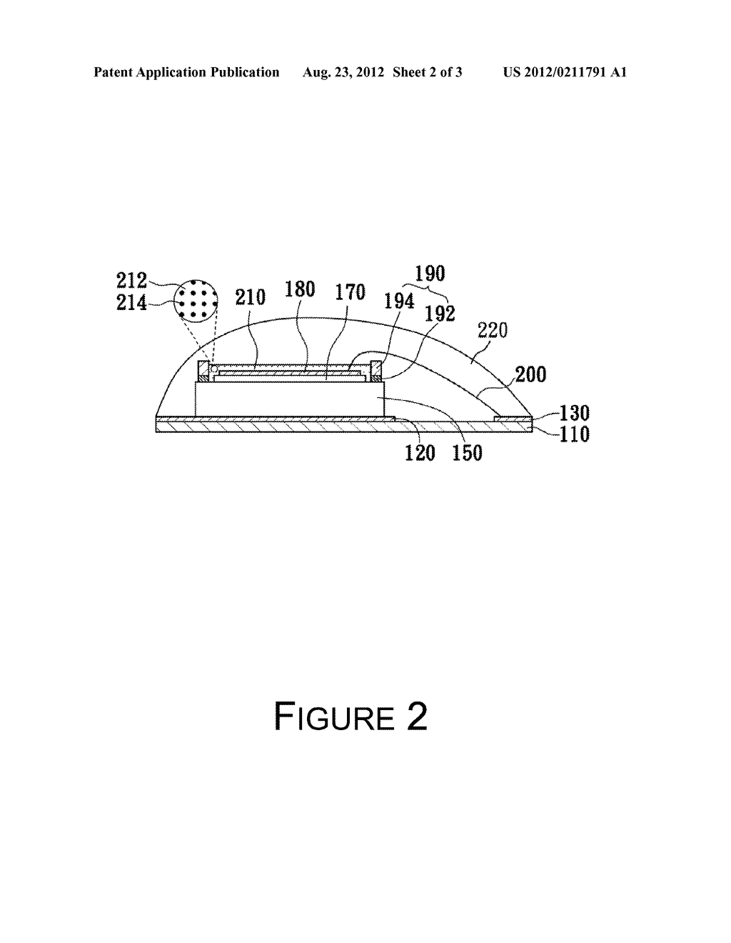 LED Packaging Structure and Fabricating Method Thereof - diagram, schematic, and image 03