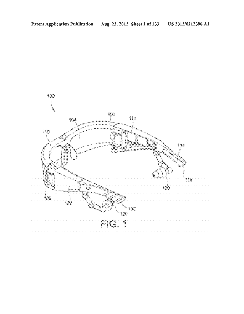 SEE-THROUGH NEAR-EYE DISPLAY GLASSES INCLUDING A PARTIALLY REFLECTIVE,     PARTIALLY TRANSMITTING OPTICAL ELEMENT - diagram, schematic, and image 02