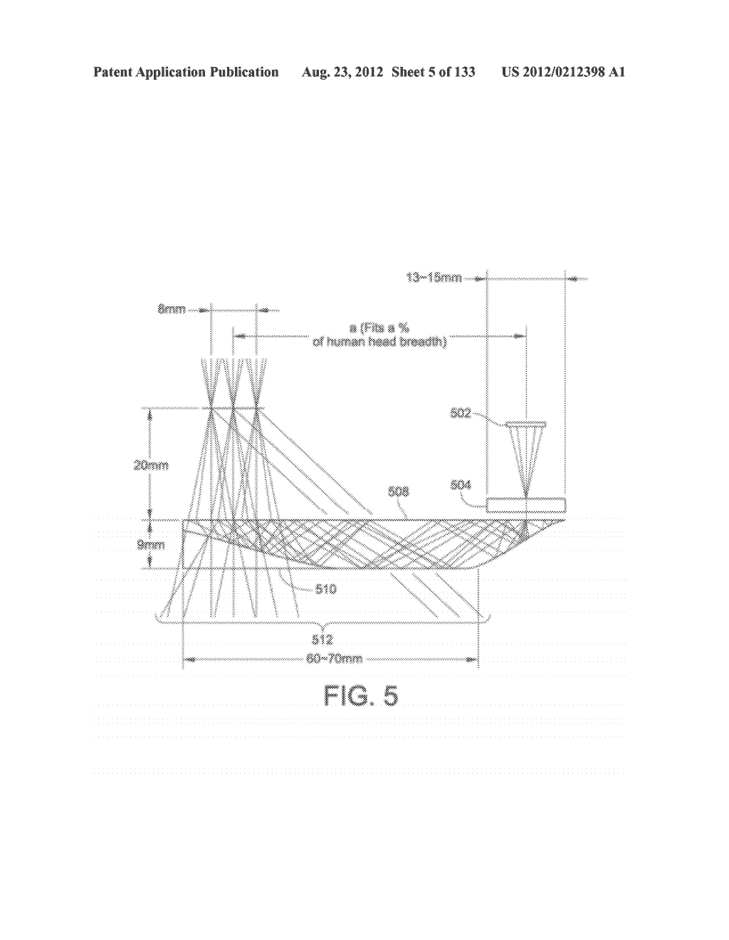 SEE-THROUGH NEAR-EYE DISPLAY GLASSES INCLUDING A PARTIALLY REFLECTIVE,     PARTIALLY TRANSMITTING OPTICAL ELEMENT - diagram, schematic, and image 06