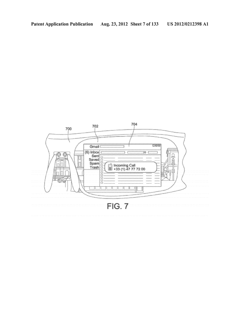 SEE-THROUGH NEAR-EYE DISPLAY GLASSES INCLUDING A PARTIALLY REFLECTIVE,     PARTIALLY TRANSMITTING OPTICAL ELEMENT - diagram, schematic, and image 08