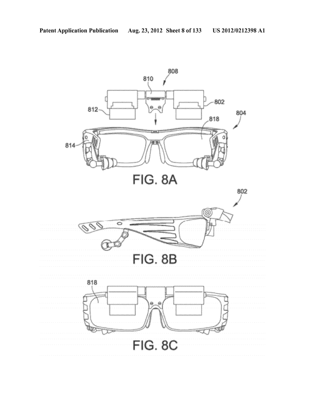 SEE-THROUGH NEAR-EYE DISPLAY GLASSES INCLUDING A PARTIALLY REFLECTIVE,     PARTIALLY TRANSMITTING OPTICAL ELEMENT - diagram, schematic, and image 09