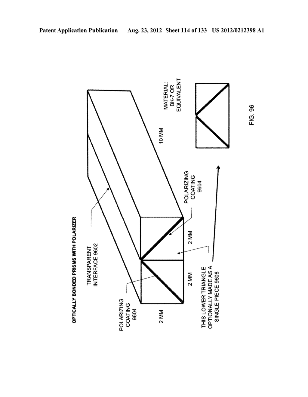 SEE-THROUGH NEAR-EYE DISPLAY GLASSES INCLUDING A PARTIALLY REFLECTIVE,     PARTIALLY TRANSMITTING OPTICAL ELEMENT - diagram, schematic, and image 115