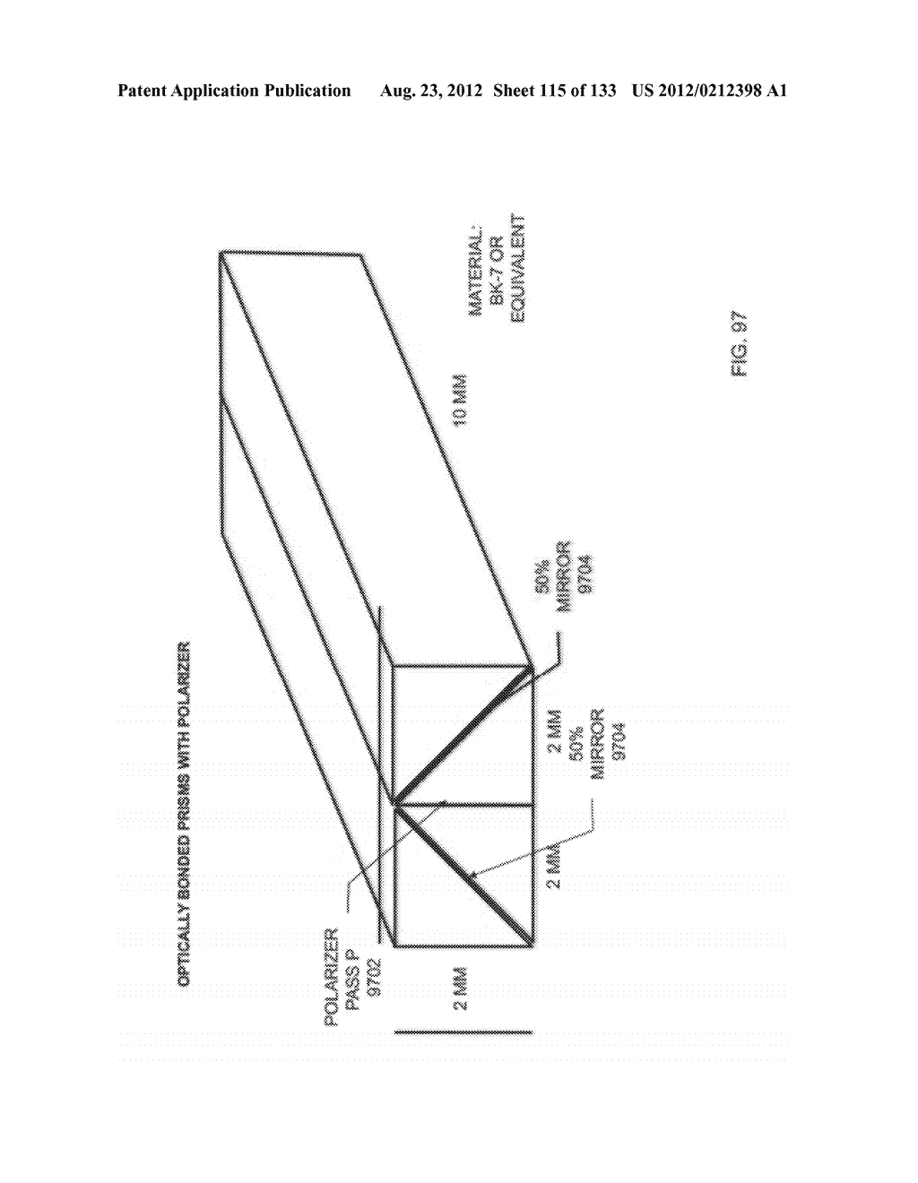SEE-THROUGH NEAR-EYE DISPLAY GLASSES INCLUDING A PARTIALLY REFLECTIVE,     PARTIALLY TRANSMITTING OPTICAL ELEMENT - diagram, schematic, and image 116