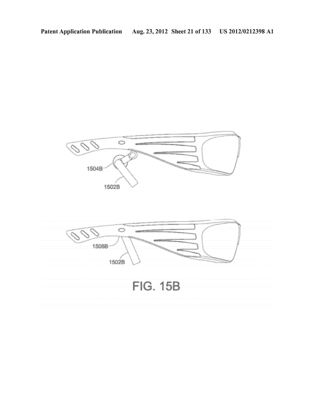 SEE-THROUGH NEAR-EYE DISPLAY GLASSES INCLUDING A PARTIALLY REFLECTIVE,     PARTIALLY TRANSMITTING OPTICAL ELEMENT - diagram, schematic, and image 22
