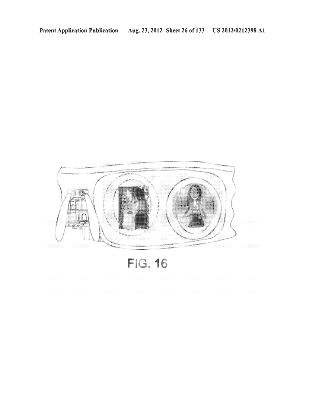 SEE-THROUGH NEAR-EYE DISPLAY GLASSES INCLUDING A PARTIALLY REFLECTIVE,     PARTIALLY TRANSMITTING OPTICAL ELEMENT - diagram, schematic, and image 27