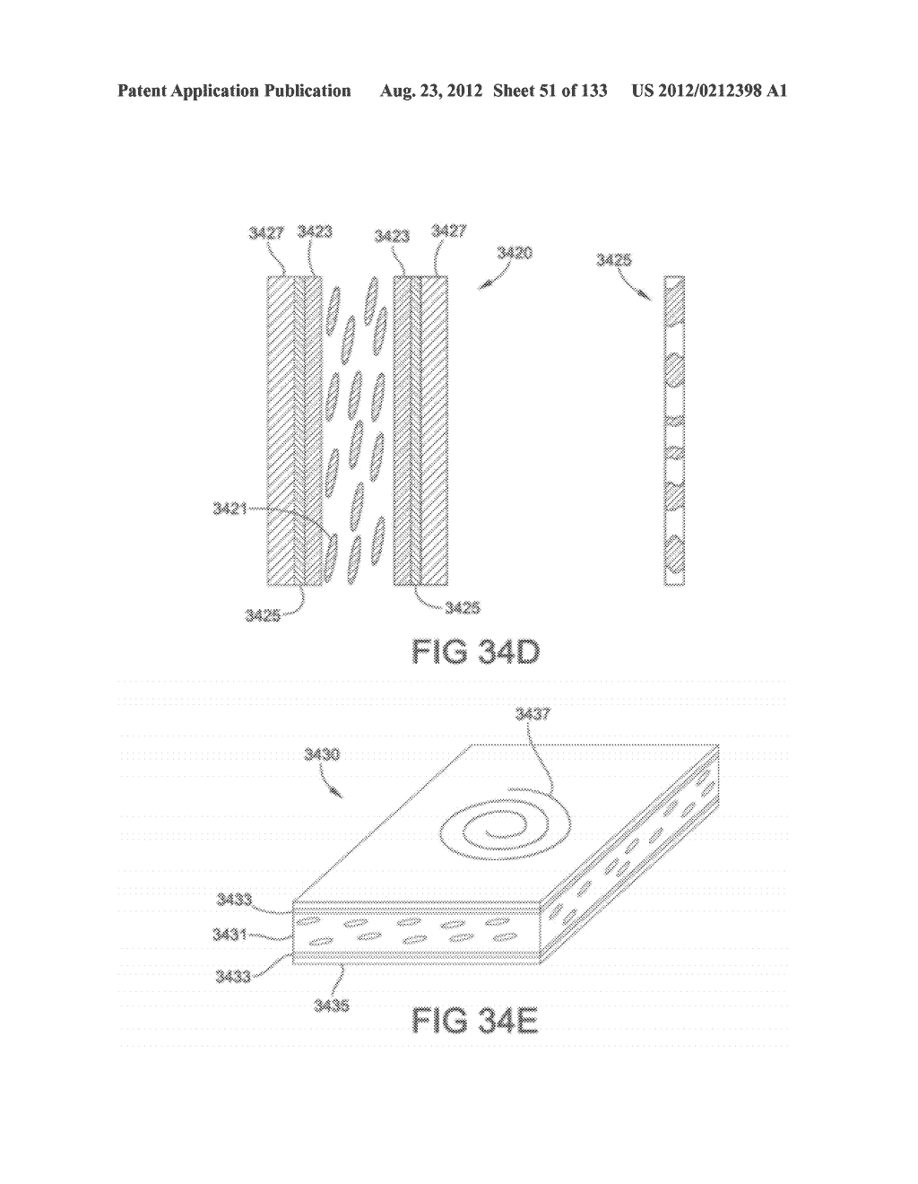 SEE-THROUGH NEAR-EYE DISPLAY GLASSES INCLUDING A PARTIALLY REFLECTIVE,     PARTIALLY TRANSMITTING OPTICAL ELEMENT - diagram, schematic, and image 52
