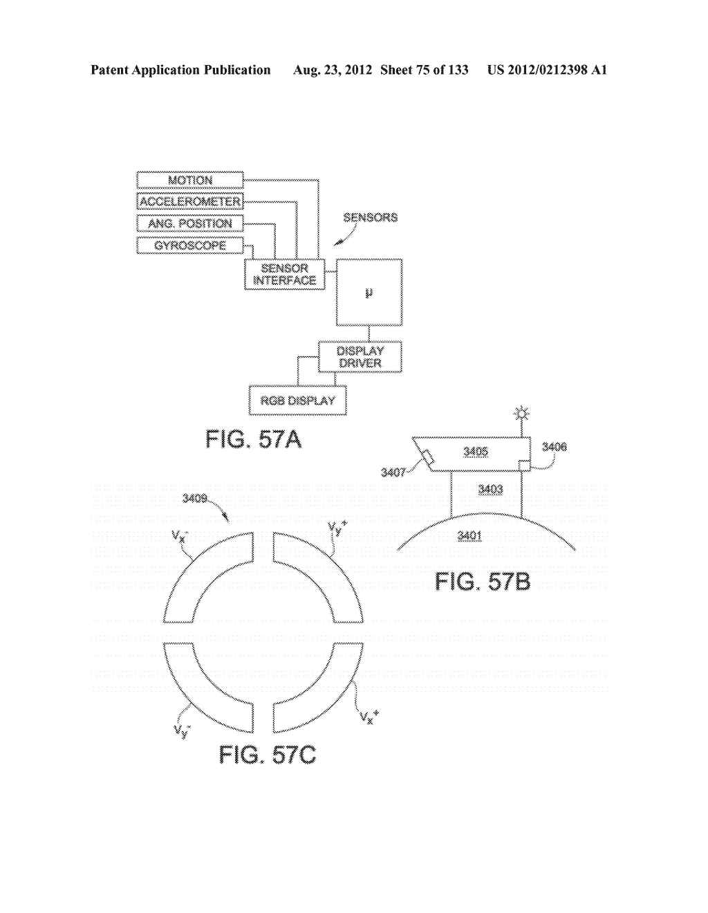SEE-THROUGH NEAR-EYE DISPLAY GLASSES INCLUDING A PARTIALLY REFLECTIVE,     PARTIALLY TRANSMITTING OPTICAL ELEMENT - diagram, schematic, and image 76