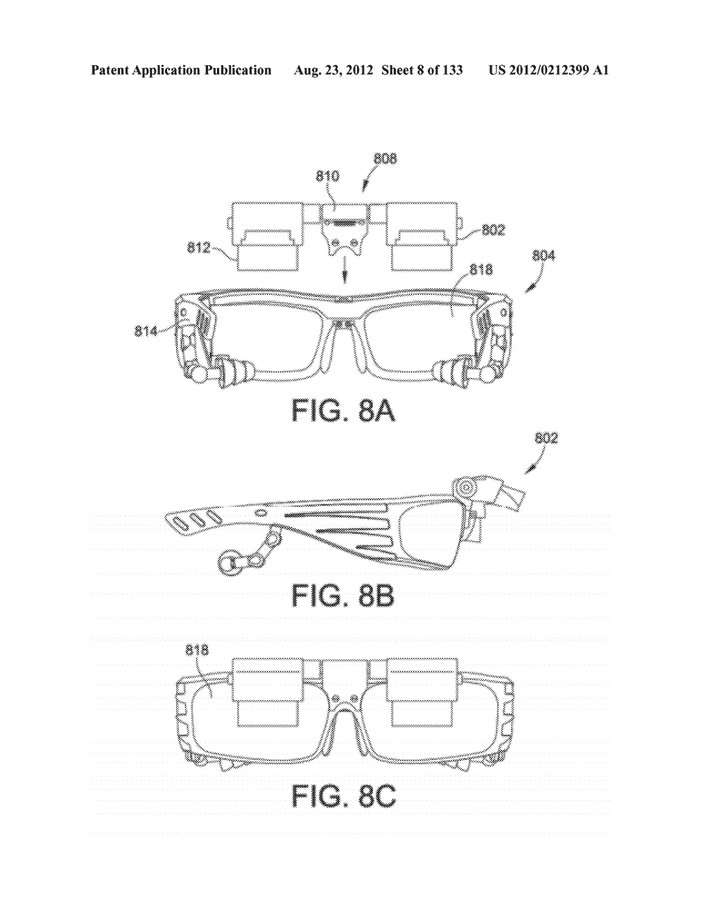 SEE-THROUGH NEAR-EYE DISPLAY GLASSES WHEREIN IMAGE LIGHT IS TRANSMITTED TO     AND REFLECTED FROM AN OPTICALLY FLAT FILM - diagram, schematic, and image 09