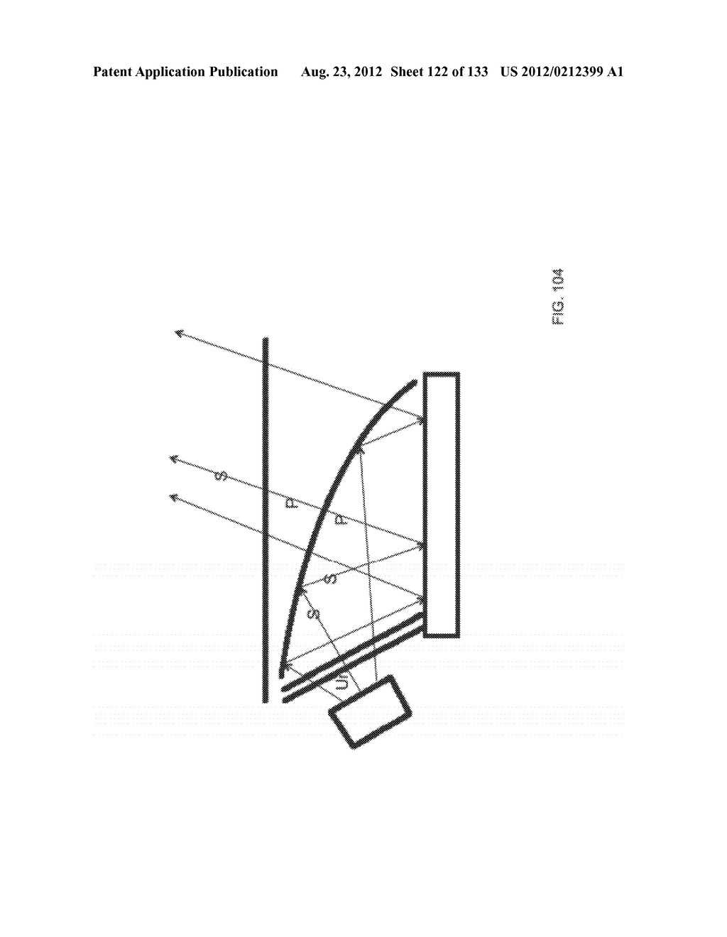 SEE-THROUGH NEAR-EYE DISPLAY GLASSES WHEREIN IMAGE LIGHT IS TRANSMITTED TO     AND REFLECTED FROM AN OPTICALLY FLAT FILM - diagram, schematic, and image 123
