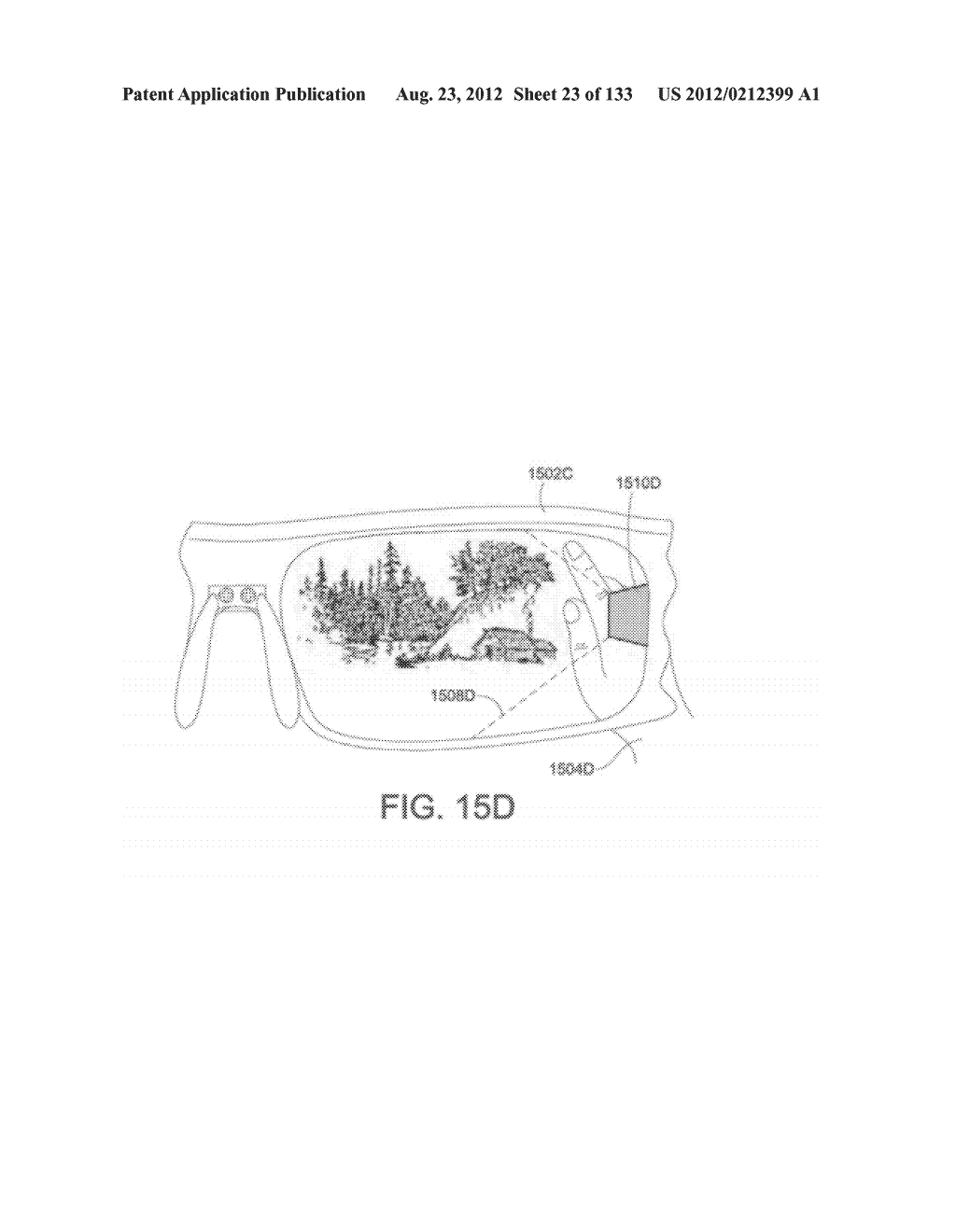 SEE-THROUGH NEAR-EYE DISPLAY GLASSES WHEREIN IMAGE LIGHT IS TRANSMITTED TO     AND REFLECTED FROM AN OPTICALLY FLAT FILM - diagram, schematic, and image 24