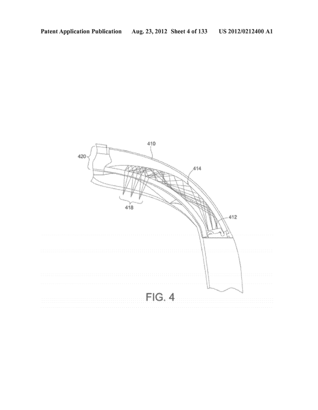 SEE-THROUGH NEAR-EYE DISPLAY GLASSES INCLUDING A CURVED POLARIZING FILM IN     THE IMAGE SOURCE, A PARTIALLY REFLECTIVE, PARTIALLY TRANSMITTING OPTICAL     ELEMENT AND AN OPTICALLY FLAT FILM - diagram, schematic, and image 05