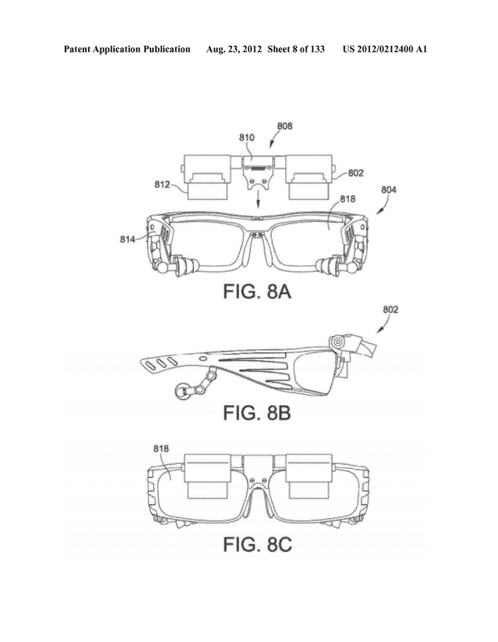 SEE-THROUGH NEAR-EYE DISPLAY GLASSES INCLUDING A CURVED POLARIZING FILM IN     THE IMAGE SOURCE, A PARTIALLY REFLECTIVE, PARTIALLY TRANSMITTING OPTICAL     ELEMENT AND AN OPTICALLY FLAT FILM - diagram, schematic, and image 09