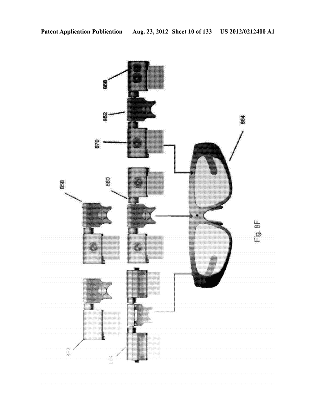 SEE-THROUGH NEAR-EYE DISPLAY GLASSES INCLUDING A CURVED POLARIZING FILM IN     THE IMAGE SOURCE, A PARTIALLY REFLECTIVE, PARTIALLY TRANSMITTING OPTICAL     ELEMENT AND AN OPTICALLY FLAT FILM - diagram, schematic, and image 11
