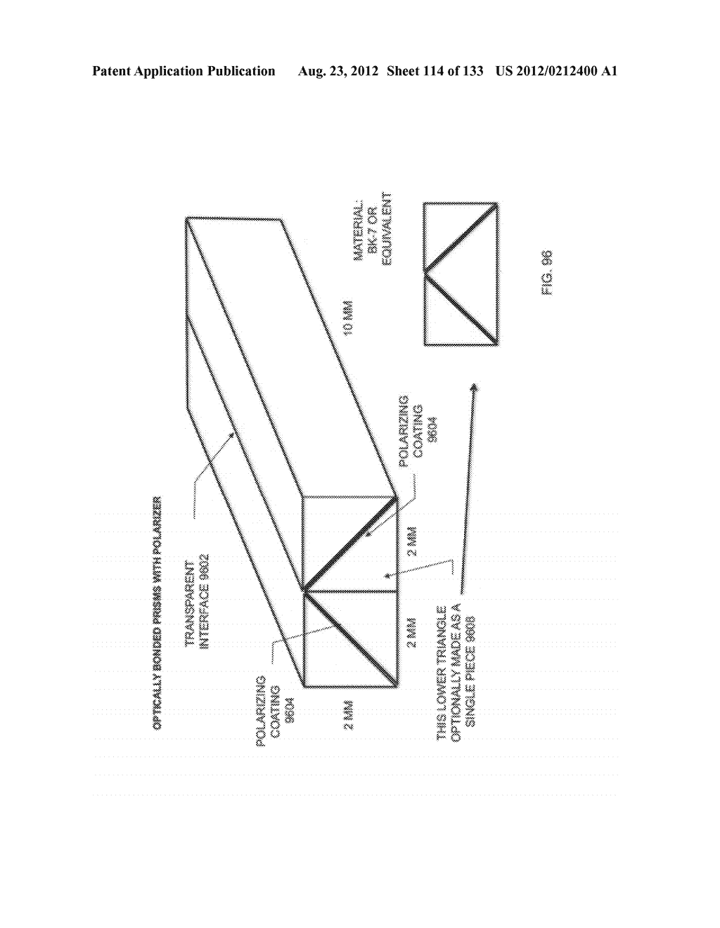 SEE-THROUGH NEAR-EYE DISPLAY GLASSES INCLUDING A CURVED POLARIZING FILM IN     THE IMAGE SOURCE, A PARTIALLY REFLECTIVE, PARTIALLY TRANSMITTING OPTICAL     ELEMENT AND AN OPTICALLY FLAT FILM - diagram, schematic, and image 115