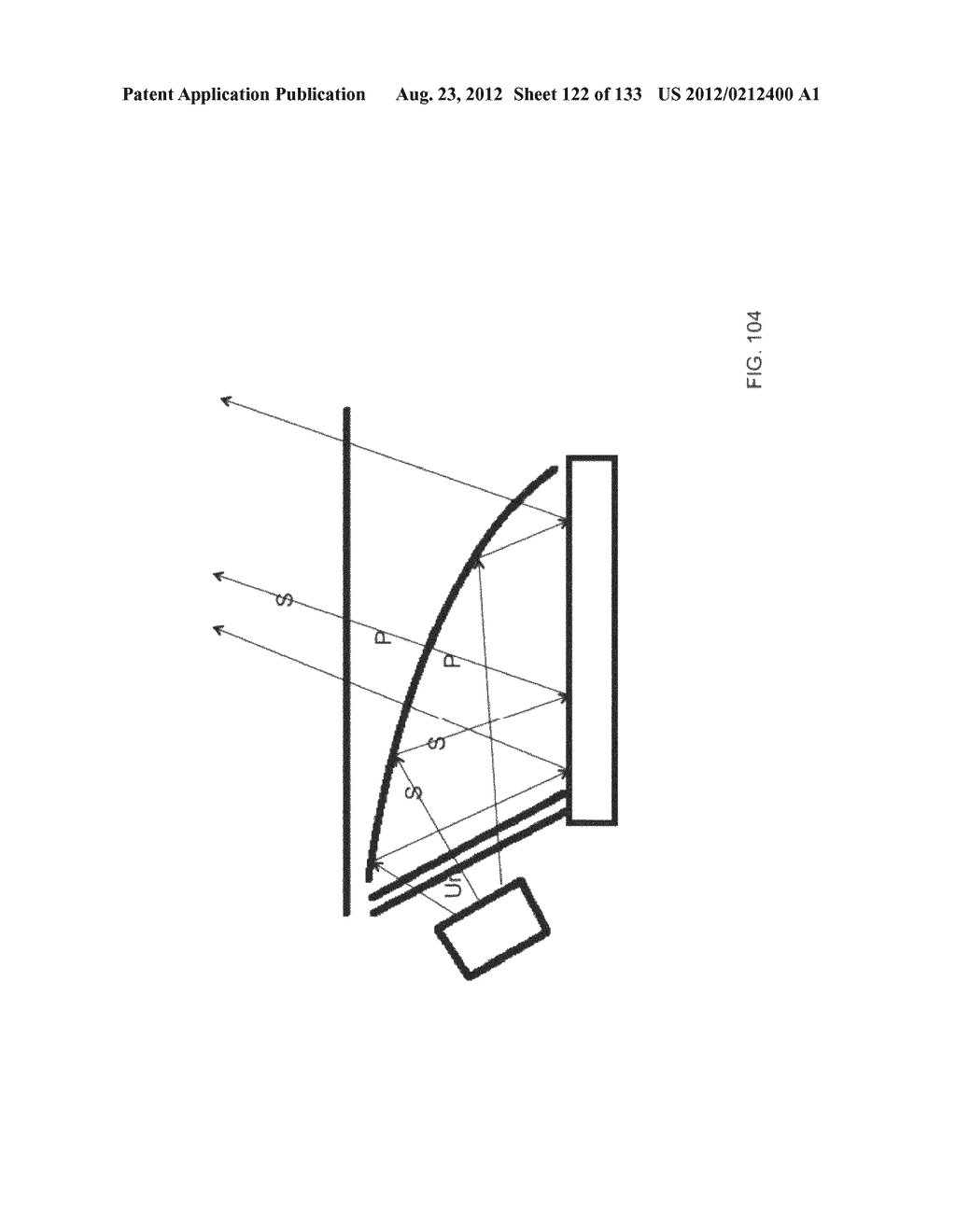 SEE-THROUGH NEAR-EYE DISPLAY GLASSES INCLUDING A CURVED POLARIZING FILM IN     THE IMAGE SOURCE, A PARTIALLY REFLECTIVE, PARTIALLY TRANSMITTING OPTICAL     ELEMENT AND AN OPTICALLY FLAT FILM - diagram, schematic, and image 123