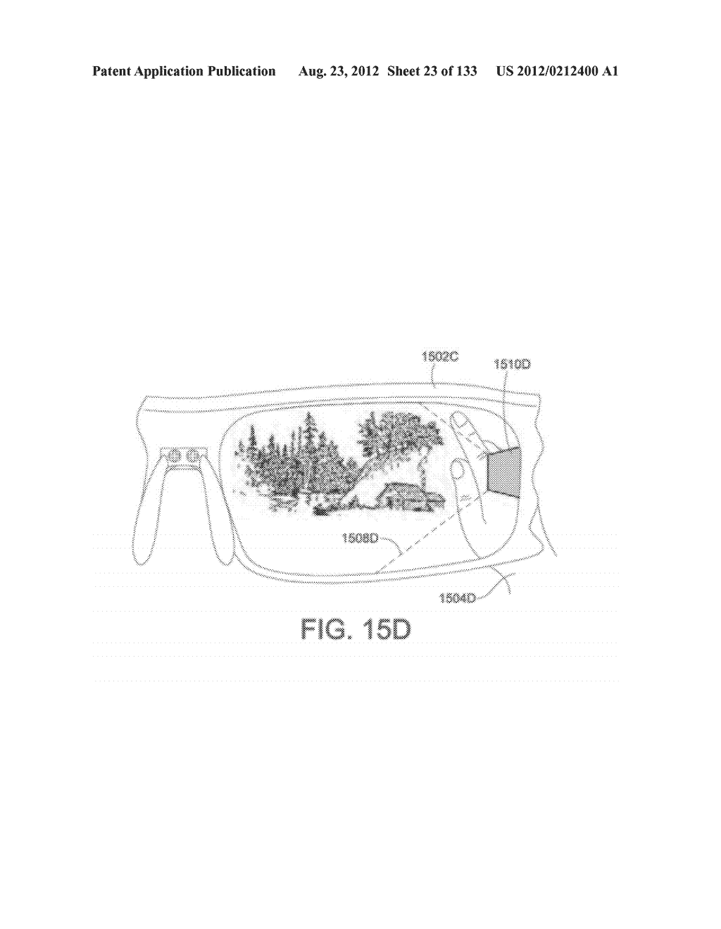 SEE-THROUGH NEAR-EYE DISPLAY GLASSES INCLUDING A CURVED POLARIZING FILM IN     THE IMAGE SOURCE, A PARTIALLY REFLECTIVE, PARTIALLY TRANSMITTING OPTICAL     ELEMENT AND AN OPTICALLY FLAT FILM - diagram, schematic, and image 24