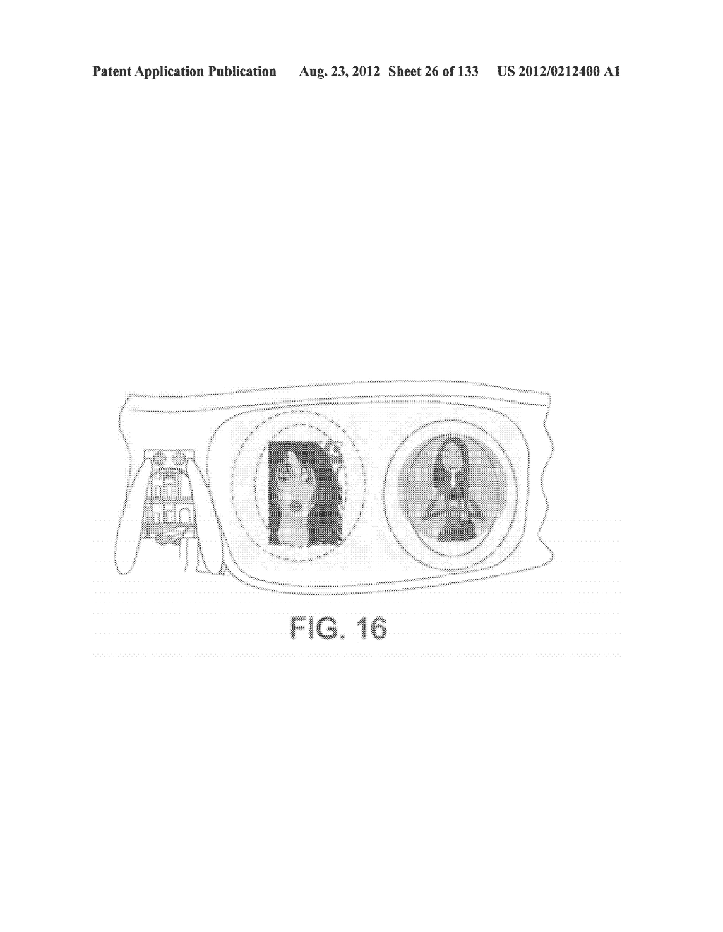 SEE-THROUGH NEAR-EYE DISPLAY GLASSES INCLUDING A CURVED POLARIZING FILM IN     THE IMAGE SOURCE, A PARTIALLY REFLECTIVE, PARTIALLY TRANSMITTING OPTICAL     ELEMENT AND AN OPTICALLY FLAT FILM - diagram, schematic, and image 27