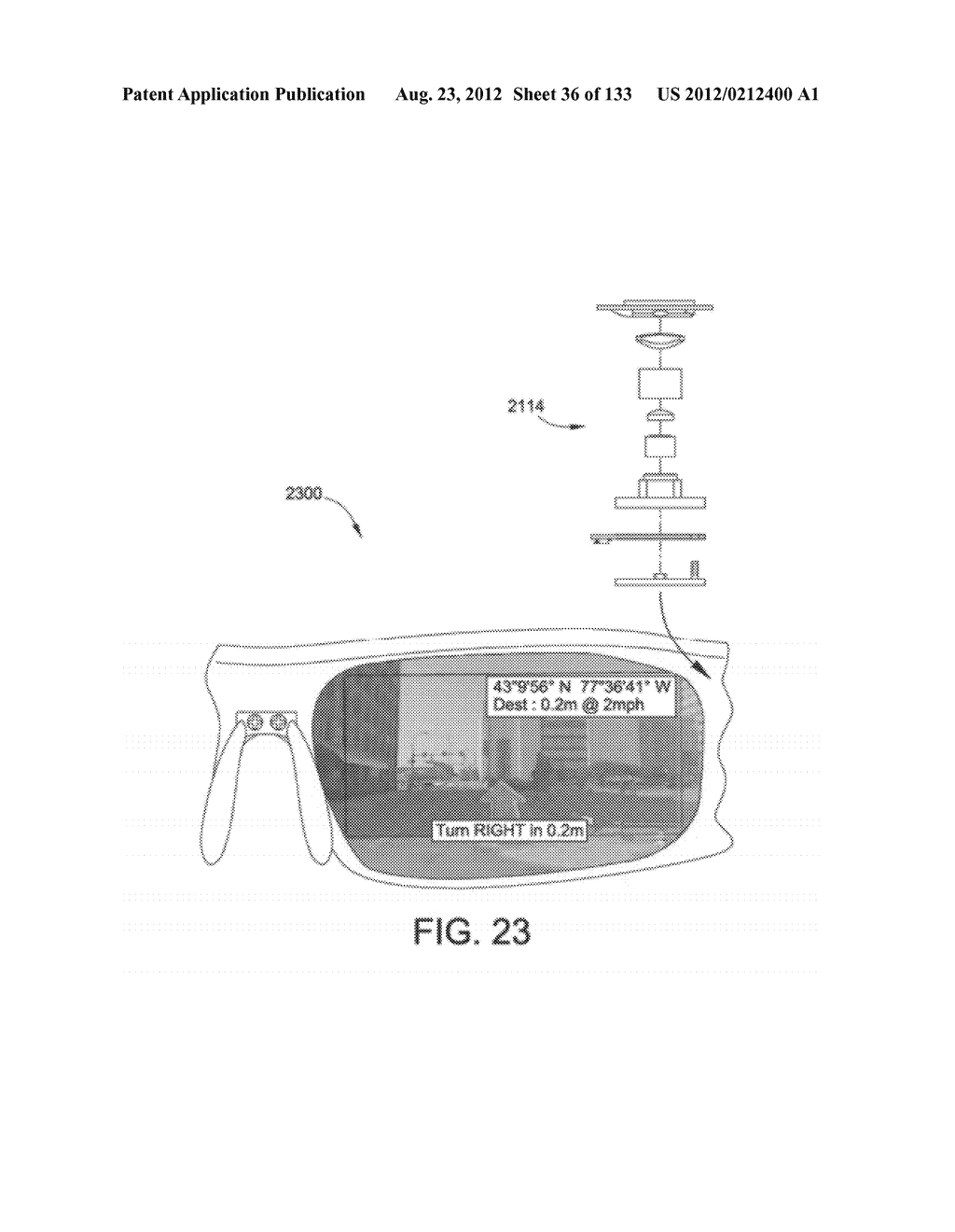 SEE-THROUGH NEAR-EYE DISPLAY GLASSES INCLUDING A CURVED POLARIZING FILM IN     THE IMAGE SOURCE, A PARTIALLY REFLECTIVE, PARTIALLY TRANSMITTING OPTICAL     ELEMENT AND AN OPTICALLY FLAT FILM - diagram, schematic, and image 37