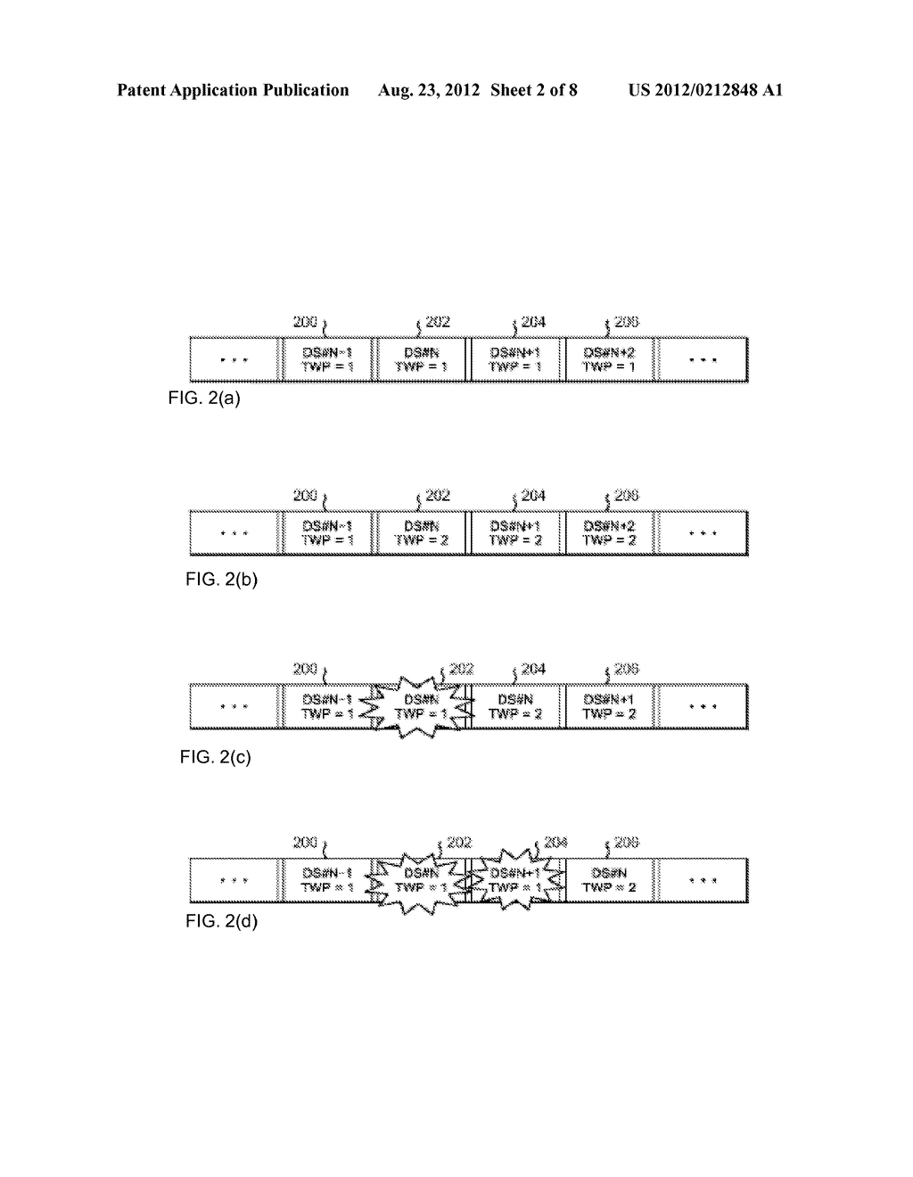 OVERWRITE CONTROL METHOD FOR DATA IN TAPE RECORDING APPARATUS, AND TAPE     RECORDING APPARATUS - diagram, schematic, and image 03