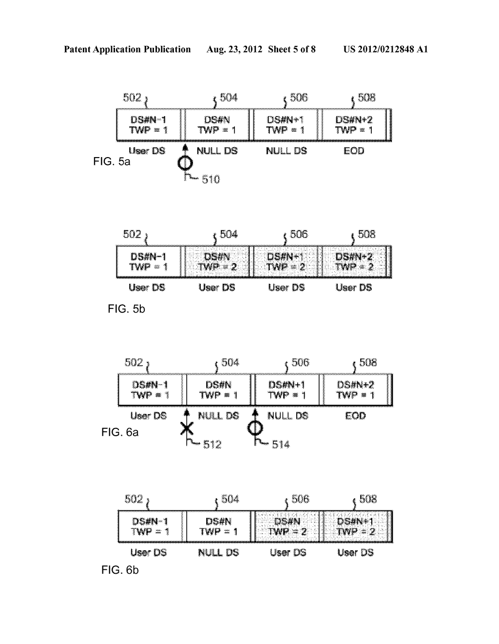 OVERWRITE CONTROL METHOD FOR DATA IN TAPE RECORDING APPARATUS, AND TAPE     RECORDING APPARATUS - diagram, schematic, and image 06