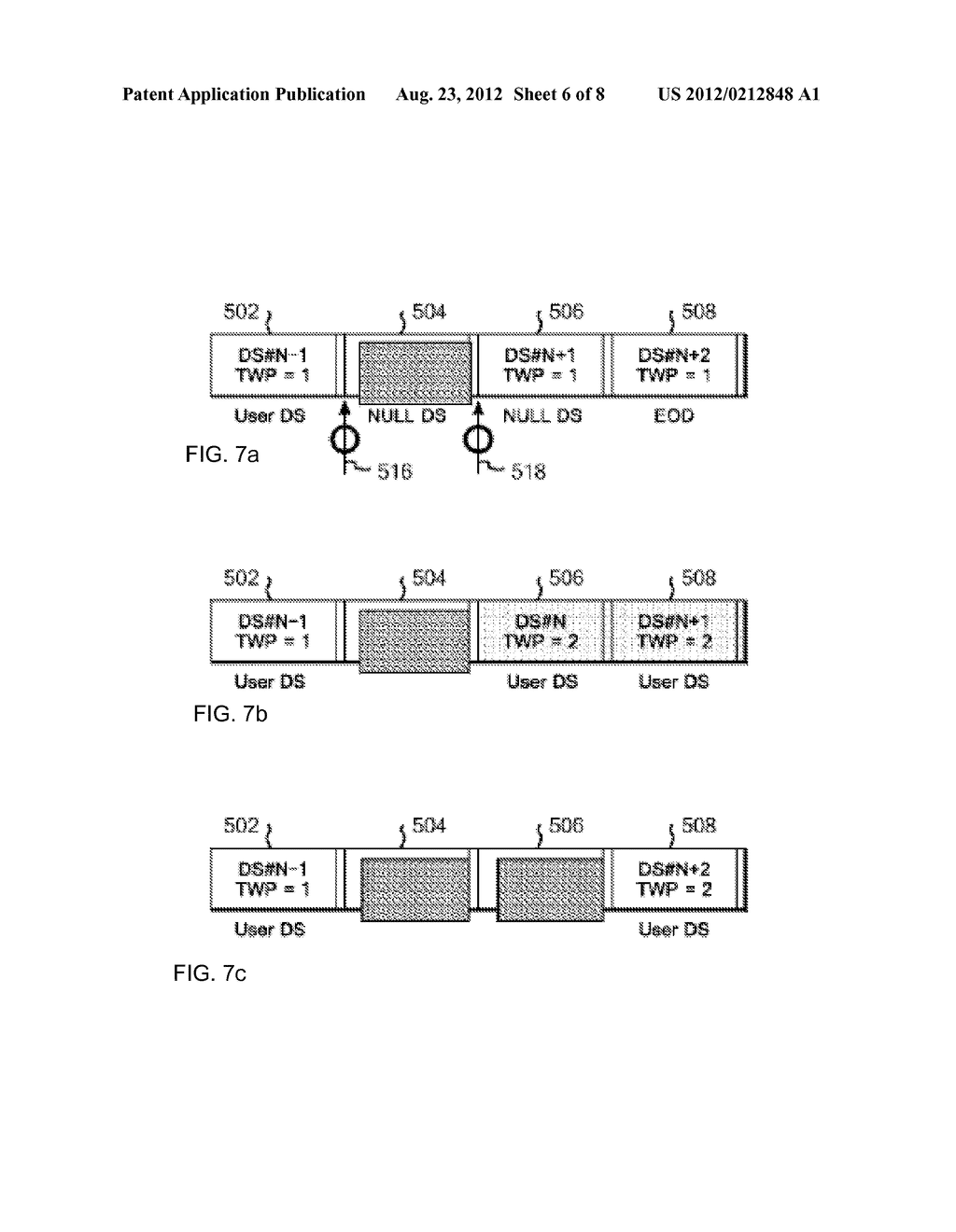 OVERWRITE CONTROL METHOD FOR DATA IN TAPE RECORDING APPARATUS, AND TAPE     RECORDING APPARATUS - diagram, schematic, and image 07