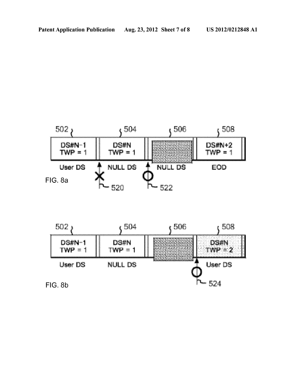OVERWRITE CONTROL METHOD FOR DATA IN TAPE RECORDING APPARATUS, AND TAPE     RECORDING APPARATUS - diagram, schematic, and image 08