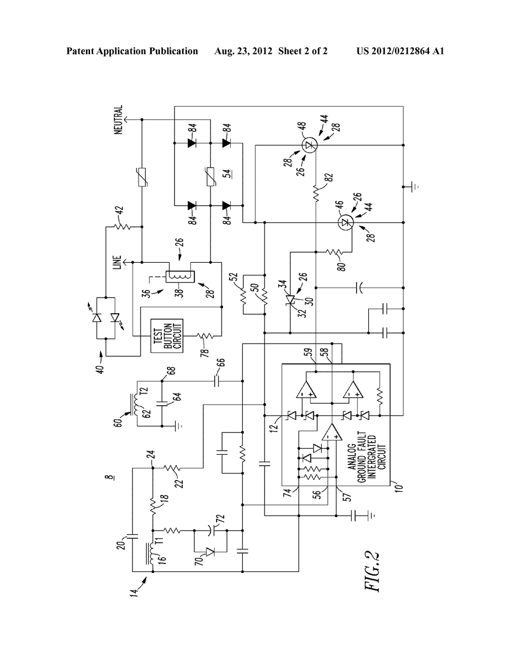 Ground Fault Circuit Breaker Schematic Books Of Wiring Diagram Fail Safe Interrupter And Rh Patentsencyclopedia Com
