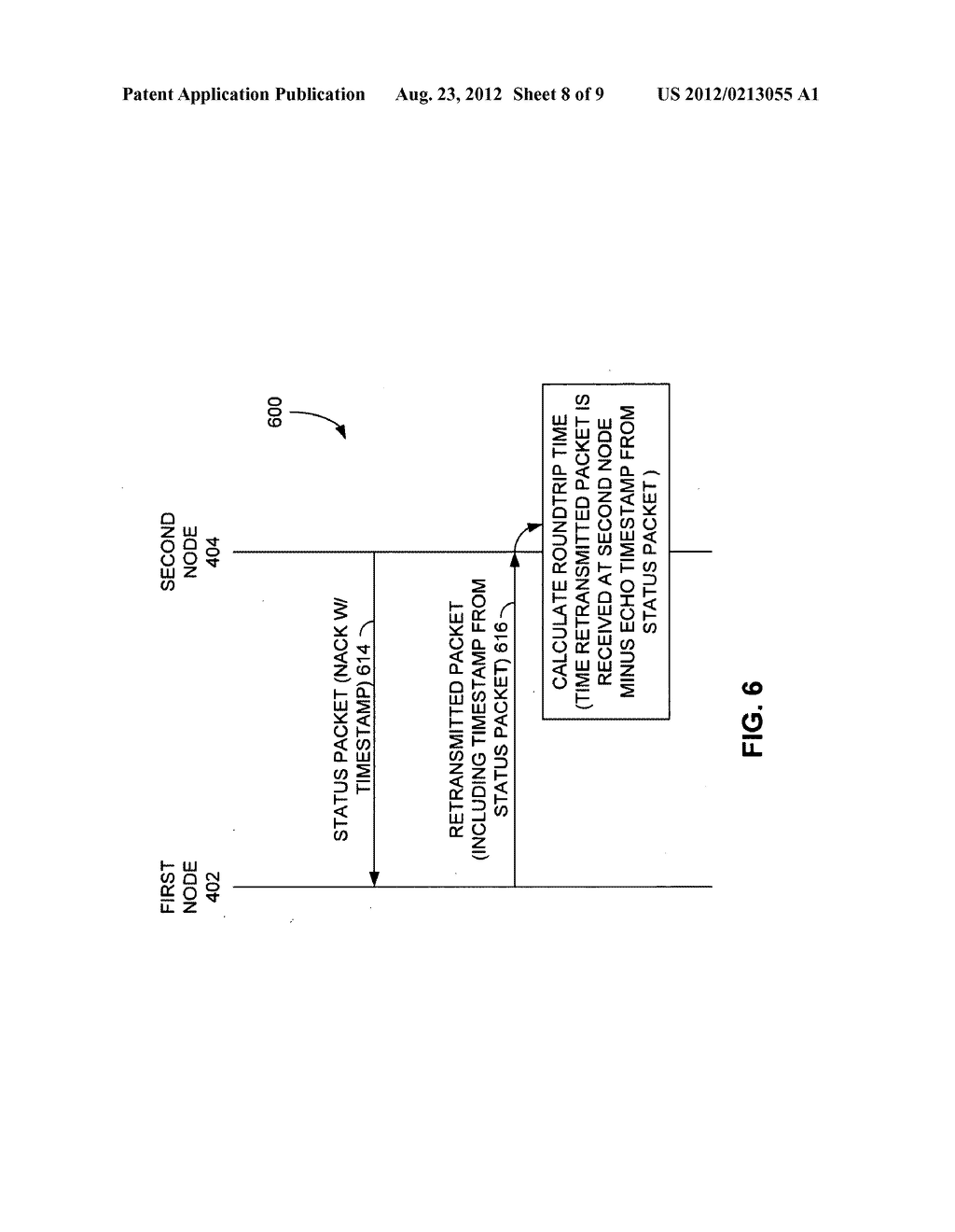 METHOD AND NODE FOR TRANSMITTING DATA OVER A COMMUNICATION NETWORK USING     NEGATIVE ACKNOWLEDGMENT - diagram, schematic, and image 09