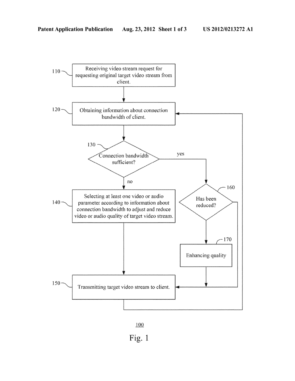METHOD AND SYSTEM FOR ADJUSTING VIDEO AND AUDIO QUALITY OF VIDEO STREAM - diagram, schematic, and image 02
