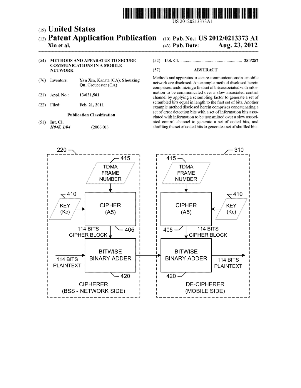 METHODS AND APPARATUS TO SECURE COMMUNICATIONS IN A MOBILE NETWORK - diagram, schematic, and image 01