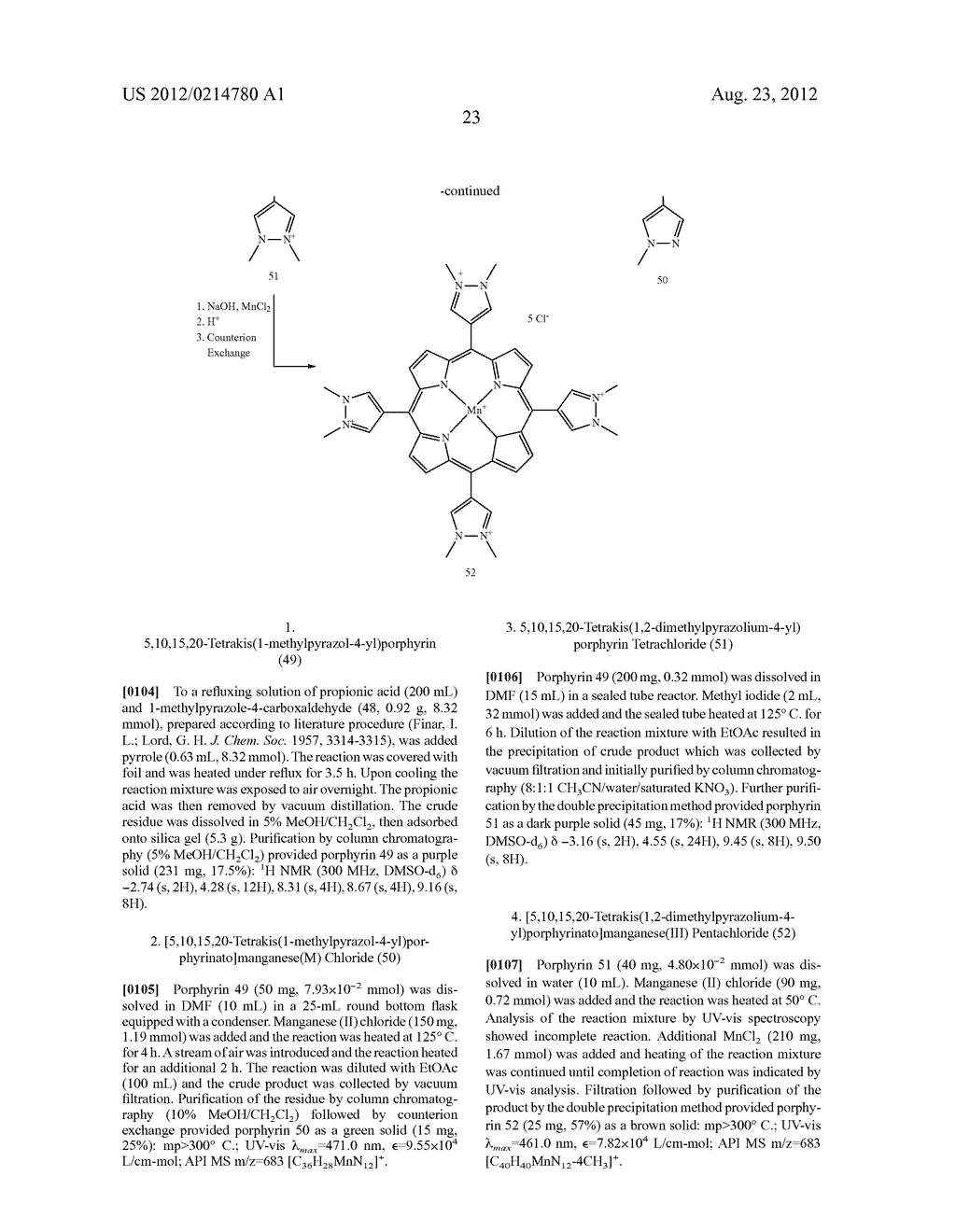 SUBSTITUTED PORPHYRINS - diagram, schematic, and image 31