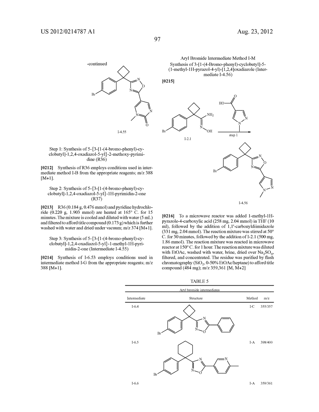 OXADIAZOLE INHIBITORS OF LEUKOTRIENE PRODUCTION - diagram, schematic, and image 98