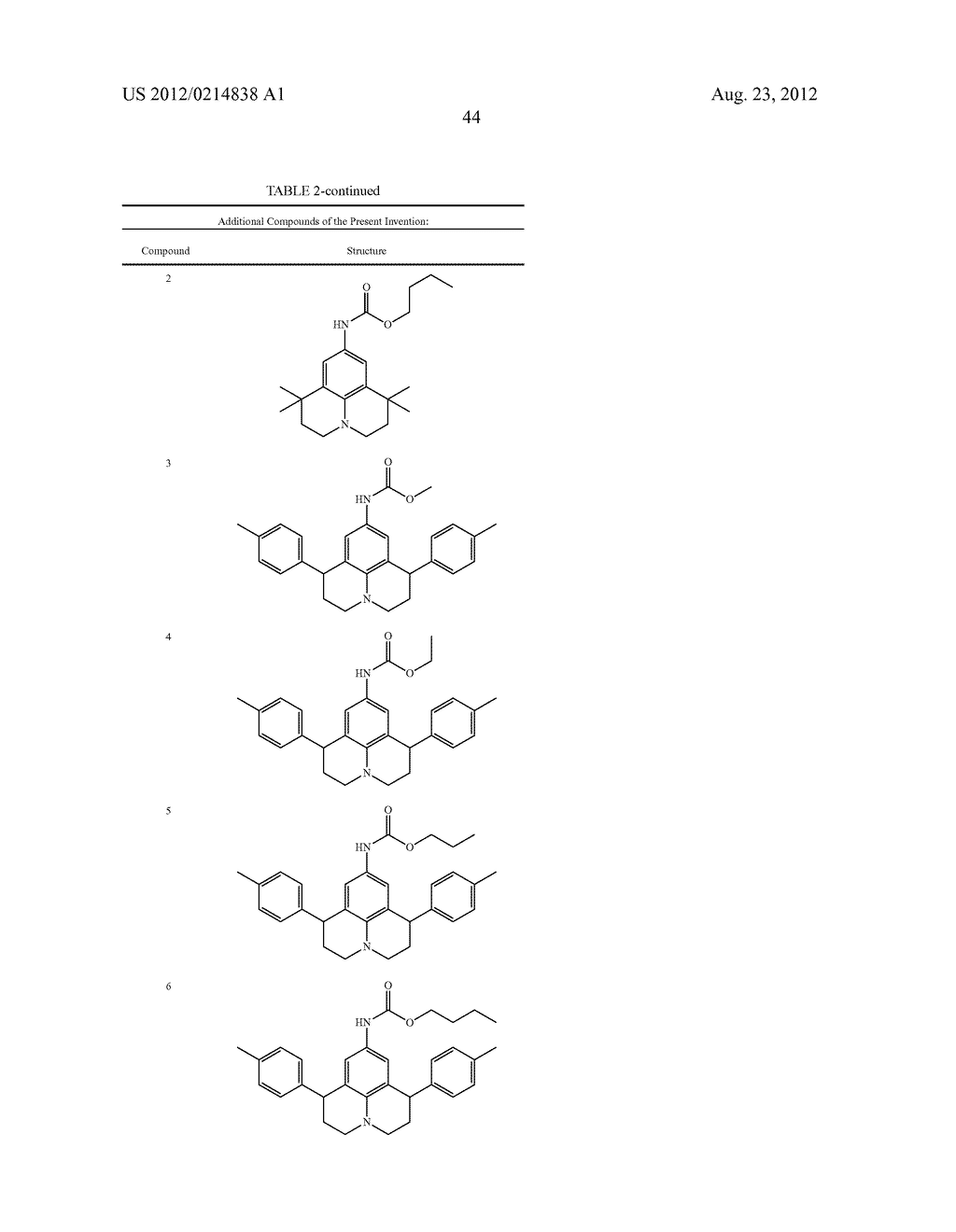 THERAPEUTICALLY USEFUL SUBSTITUTED HYDROPYRIDO [3,2,1-ij] QUINOLINE     COMPOUNDS - diagram, schematic, and image 45