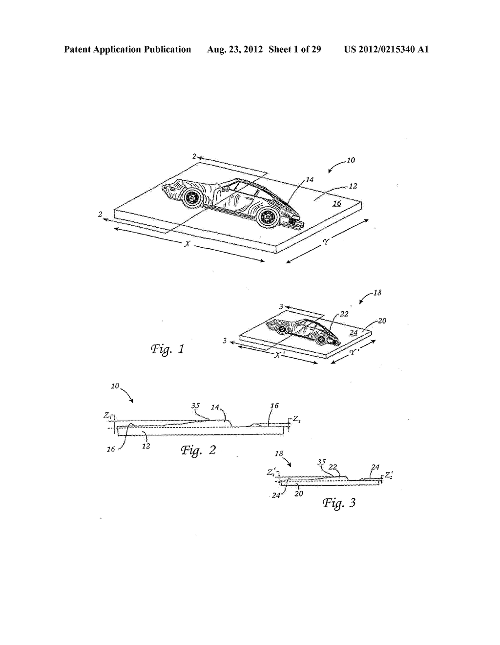 METHOD FOR THE AUTOMATED PRODUCTION OF THREE-DIMENSIONAL OBJECTS AND     TEXTURED SUBSTRATES FROM TWO-DIMENSIONAL OR THREE-DIMENSIONAL OBJECTS - diagram, schematic, and image 02