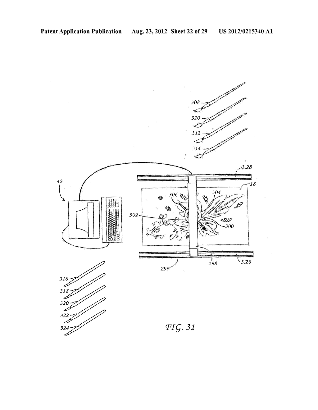 METHOD FOR THE AUTOMATED PRODUCTION OF THREE-DIMENSIONAL OBJECTS AND     TEXTURED SUBSTRATES FROM TWO-DIMENSIONAL OR THREE-DIMENSIONAL OBJECTS - diagram, schematic, and image 23