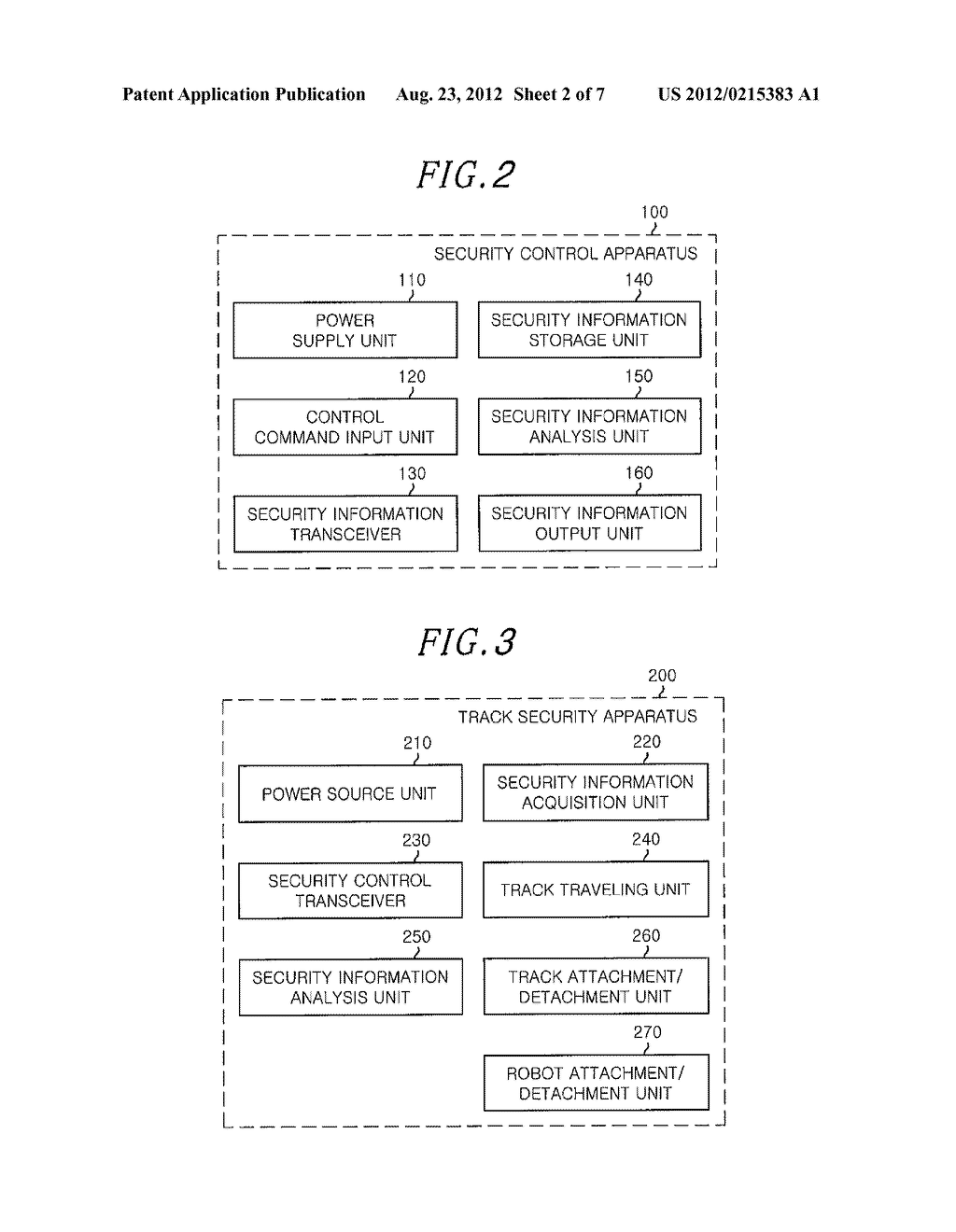 SECURITY CONTROL APPARATUS, TRACK SECURITY APPARATUS, AUTONOMOUS MOBILE     ROBOT APPARATUS, AND SECURITY CONTROL SERVICE SYSTEM AND METHOD - diagram, schematic, and image 03