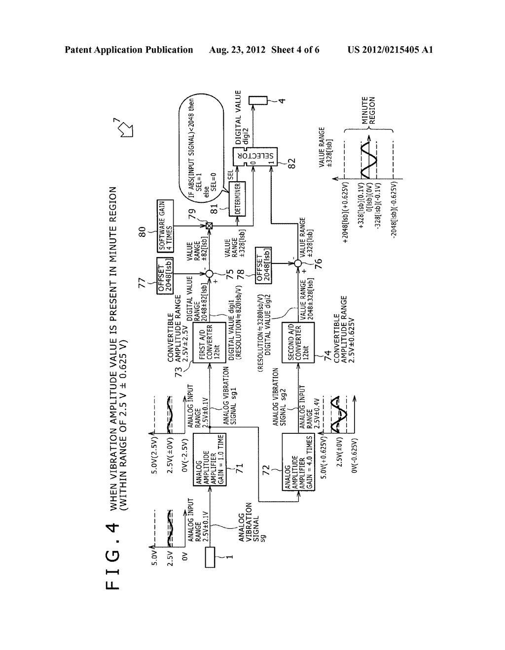 A/D CONVERSION DEVICE AND VIBRATION DAMPING APPARATUS FOR AUTOMOBILE USING     THE A/D CONVERSION DEVICE - diagram, schematic, and image 05