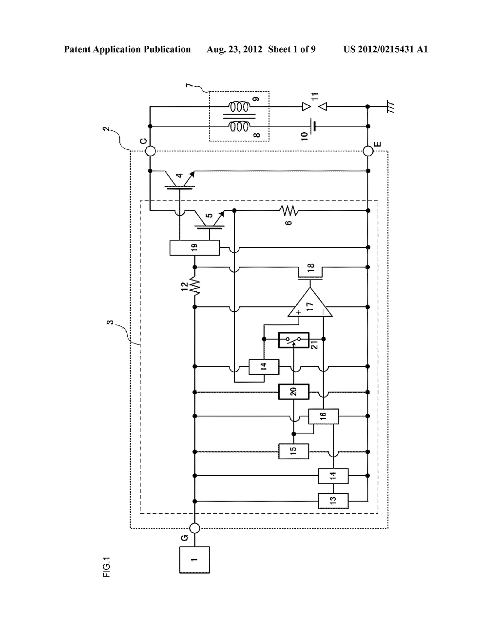 SEMICONDUCTOR DEVICE PROVIDING A CURRENT CONTROL FUNCTION AND A SELF SHUT     DOWN FUNCTION - diagram, schematic, and image 02